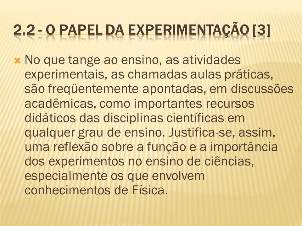 2.2 - O papel da experimentação [3]